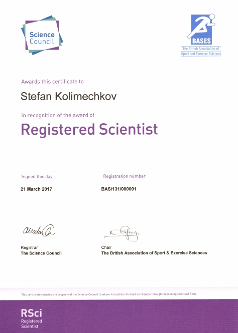 Registered Scientist