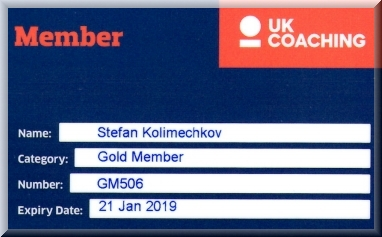 Mr Stefan Kolimechkov is a UK Coaching Gold Member
