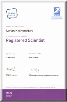 Dr Stefan Kolimechkov is a Registered Scientist in the UK