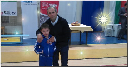 David with Jordan Jovchev - Gymnastics