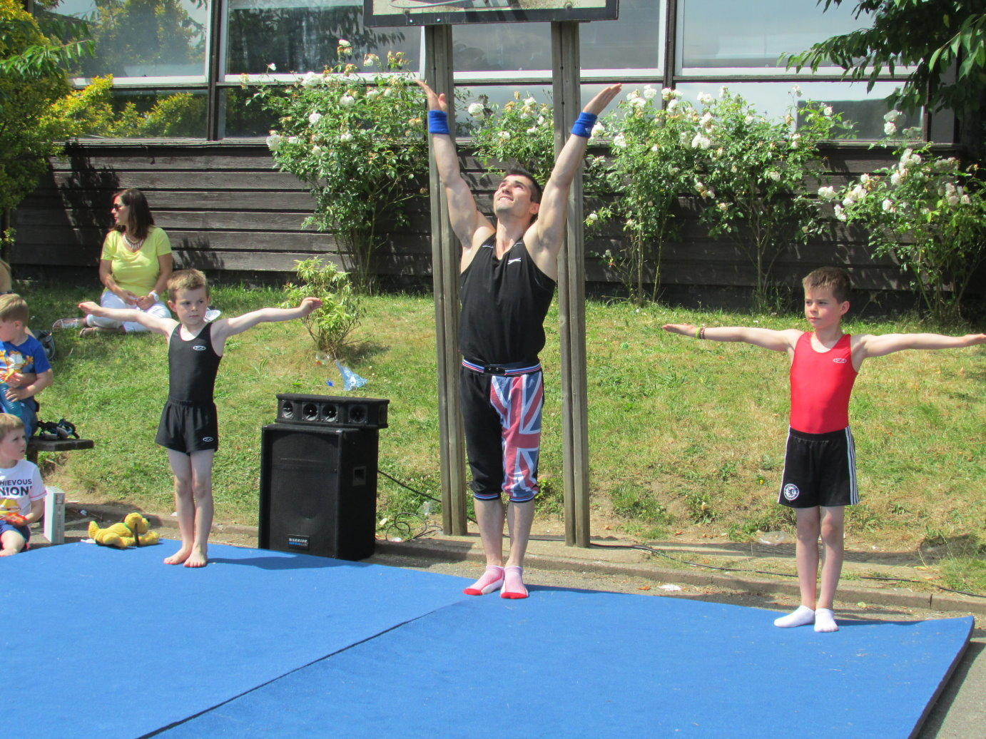 Gymnastics at Hadley Wood in London 1