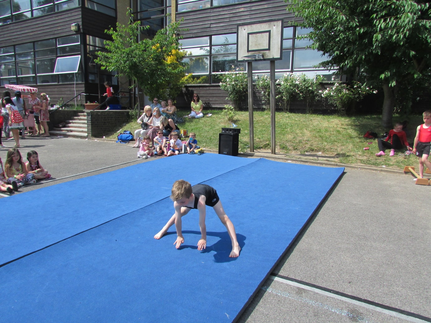 Children like doing Gymnastics