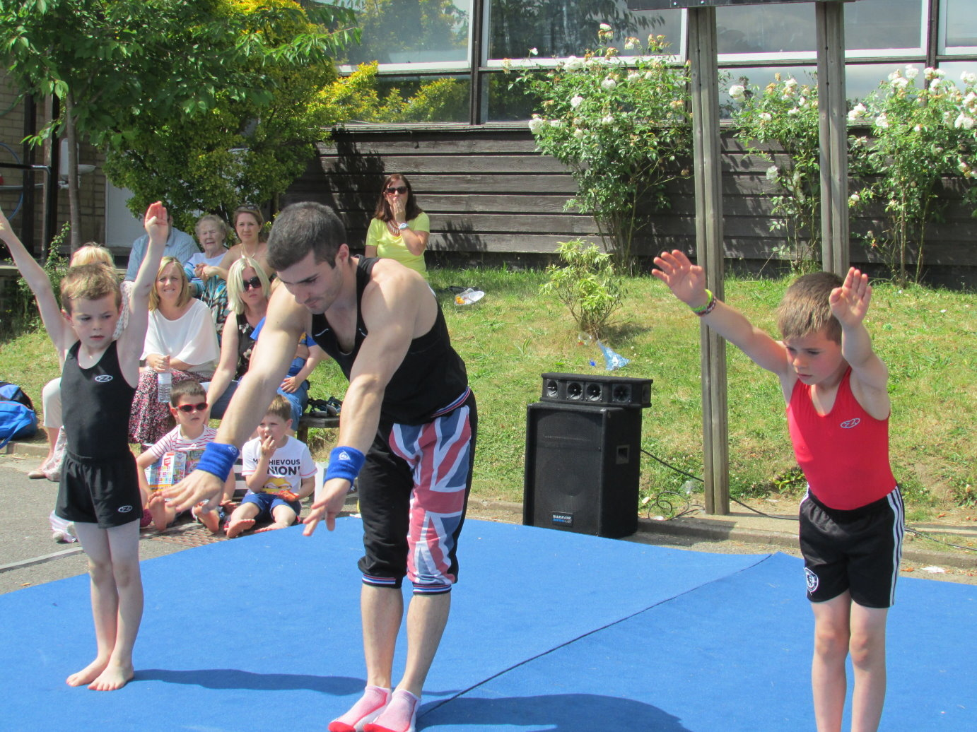 Gymnastics at Hadley Wood in London 2