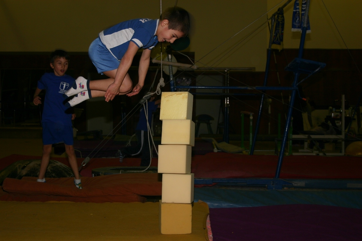 Front somersault at the Gymnastics Show 2011