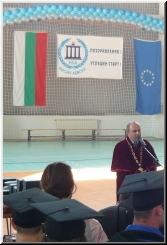 The rector of NSA at the graduation ceremony