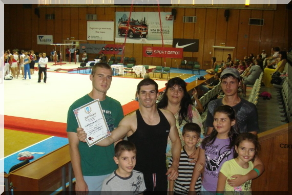 Stef Kolimechkov's Support at the BG Gymnastics Championships 2012