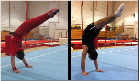 Scorpio Handstands at East London Gymnastics Club