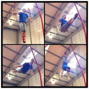 Stef on the rings
