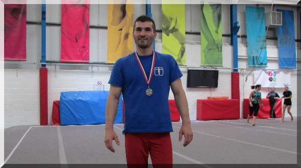 Stefan Kolimechkov at the Basingstoke Gymnastics Championships 2014