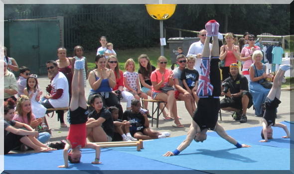 Gymnastics at Grange Park Primary School in London