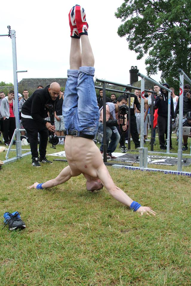 performance at the street workout in london