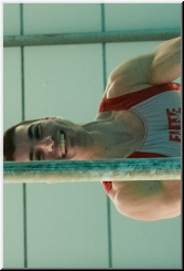 Smile when you are doing gymnastics