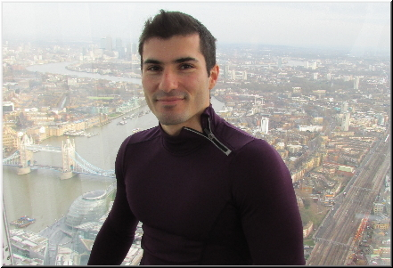 Stefan Kolimechkov at the Shard in London, England