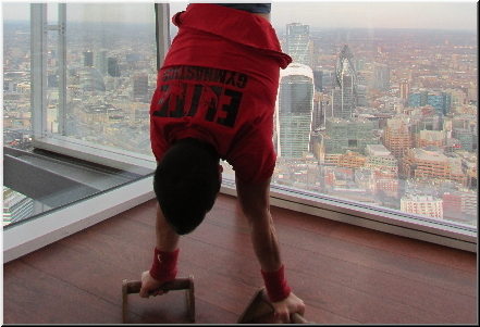 Handstand at the Shard in London
