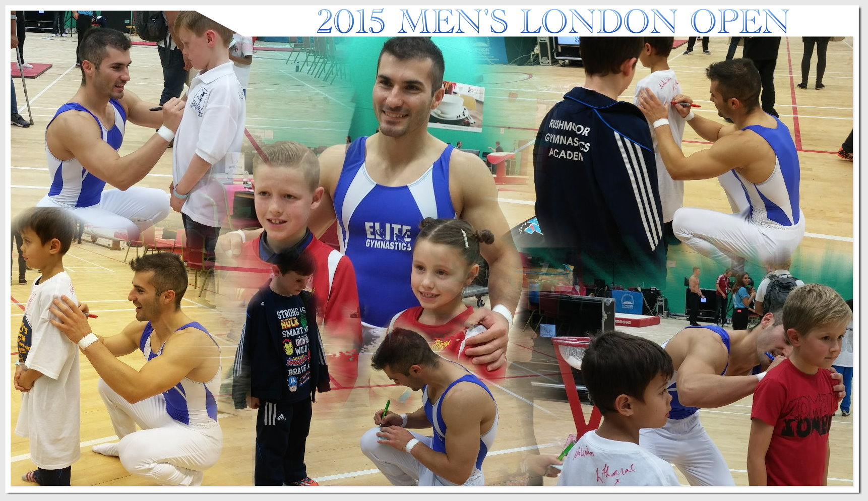Stefan Kolimechkov meets young gymnasts and fans and signs autographs