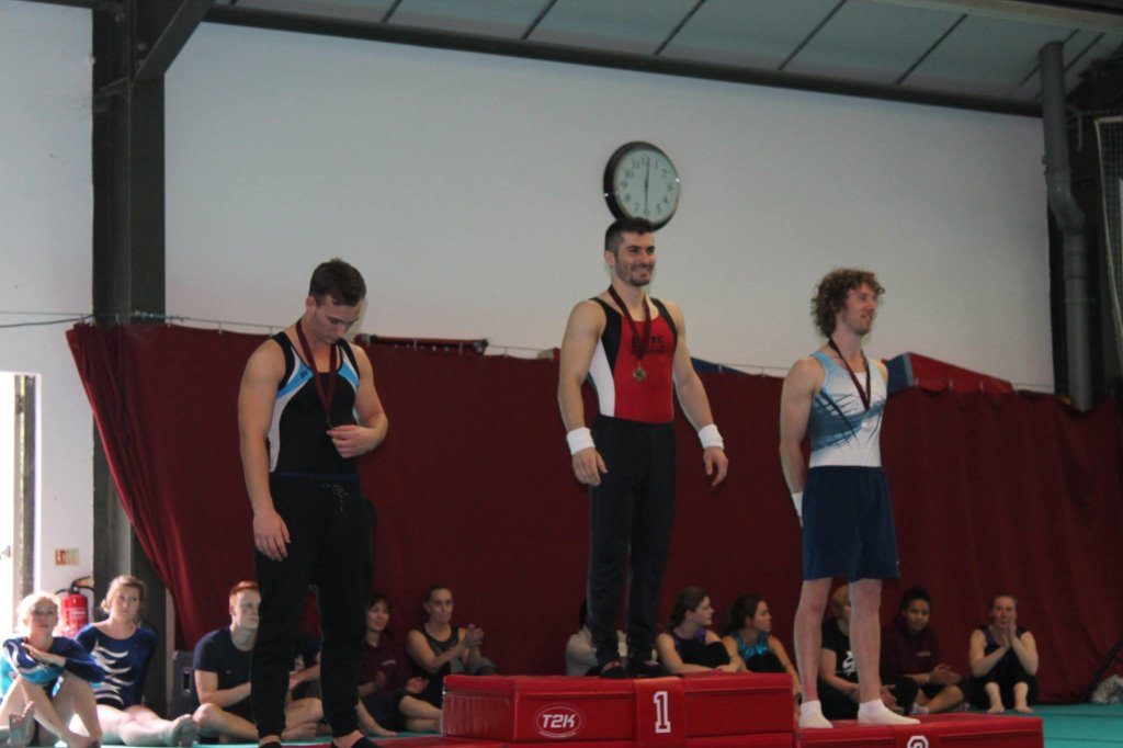 Gold medal on Parallel bars