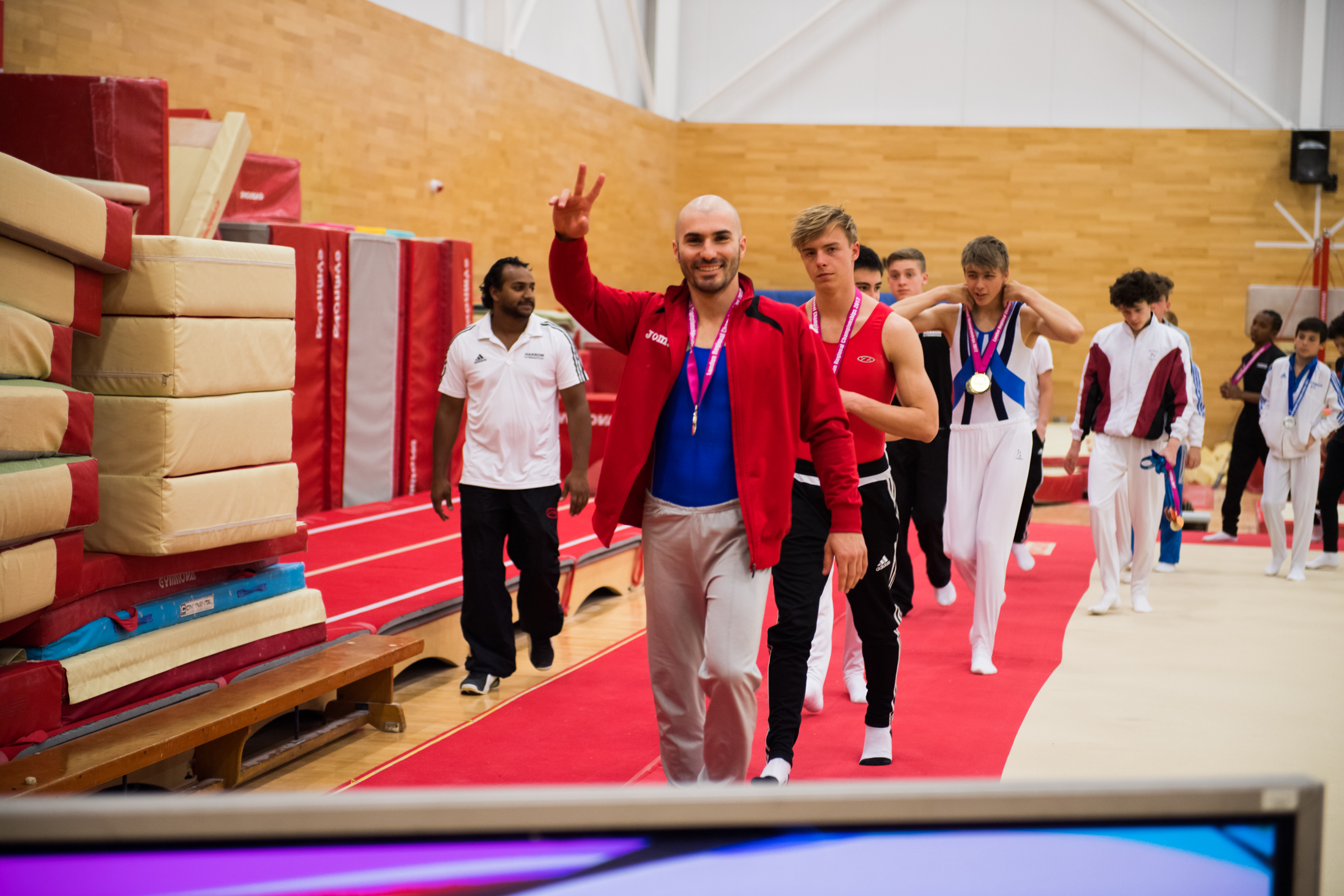 Stef from Elite Gymnastics Academy at the 2017 London Regional