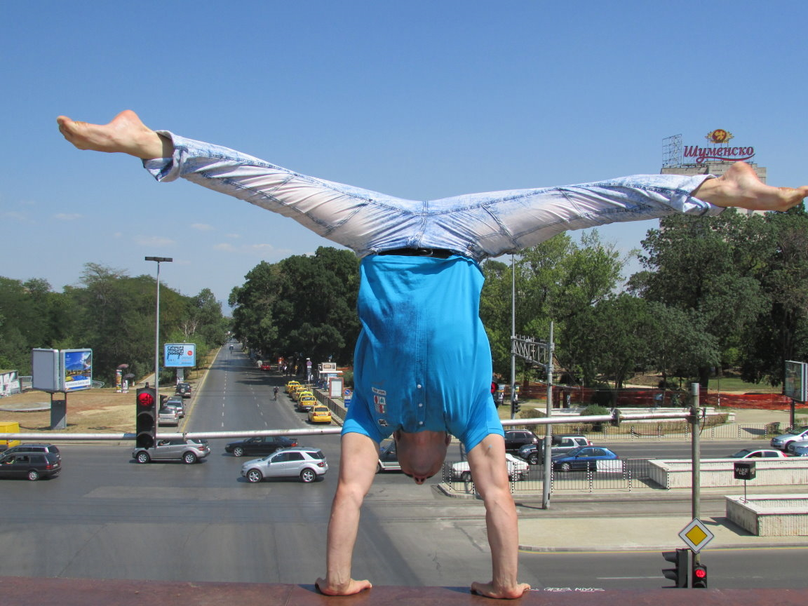 Handstand on a Bridge