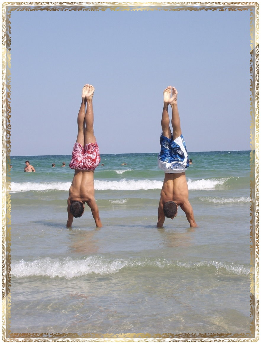 Handstand on the Sea