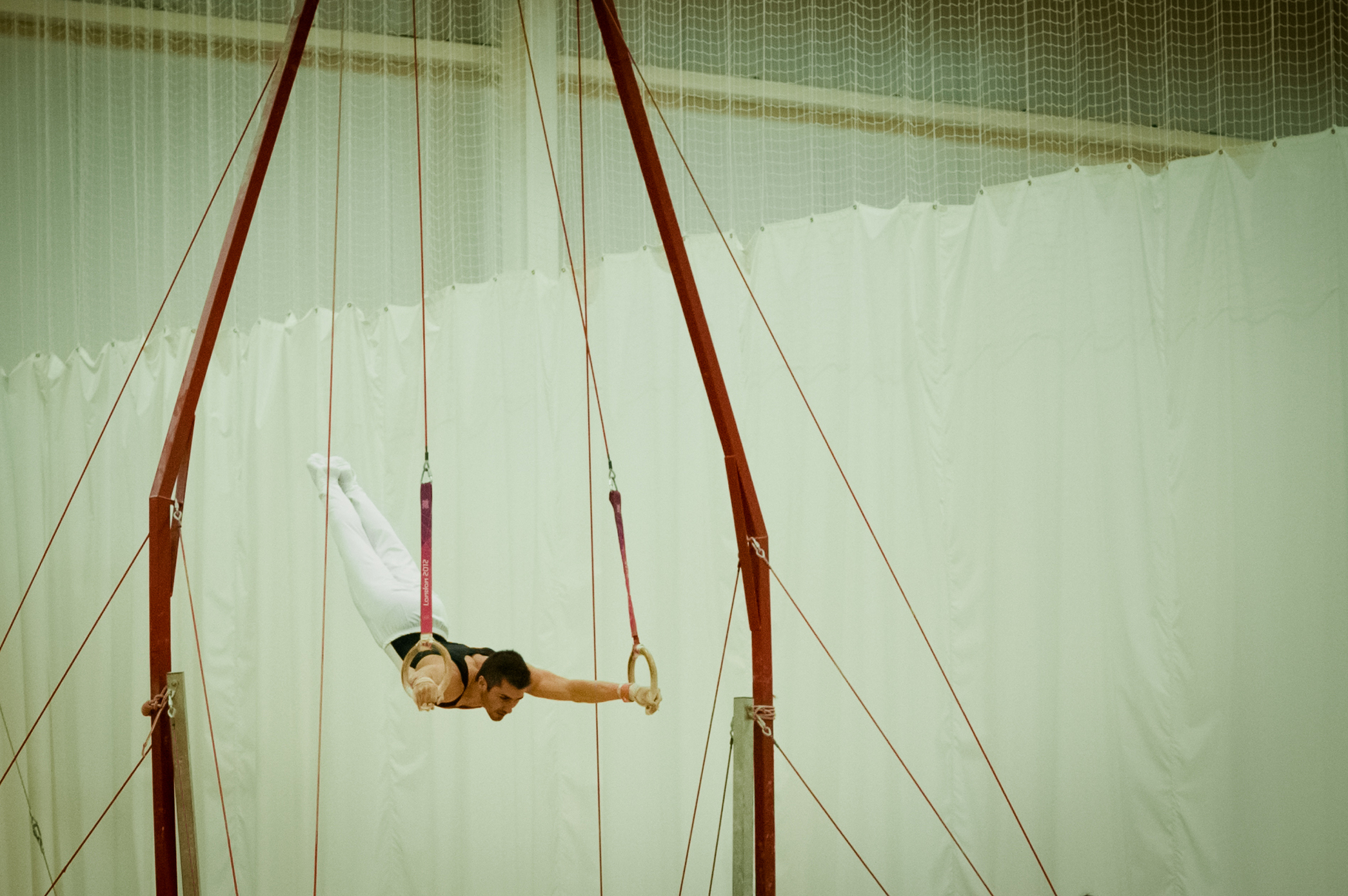 Dismount on the Rings - London Gymnastics