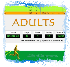 Software for Assessing Cardiorespiratory Fitness in Adults by applying the Multi-Stage Fitness Test