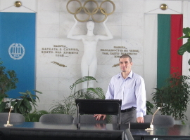 Stefan Kolimechkov at the National Sports Academy - Sofia