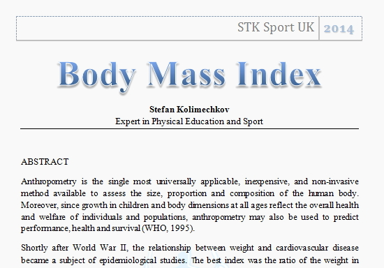 Body Mass Index Article
