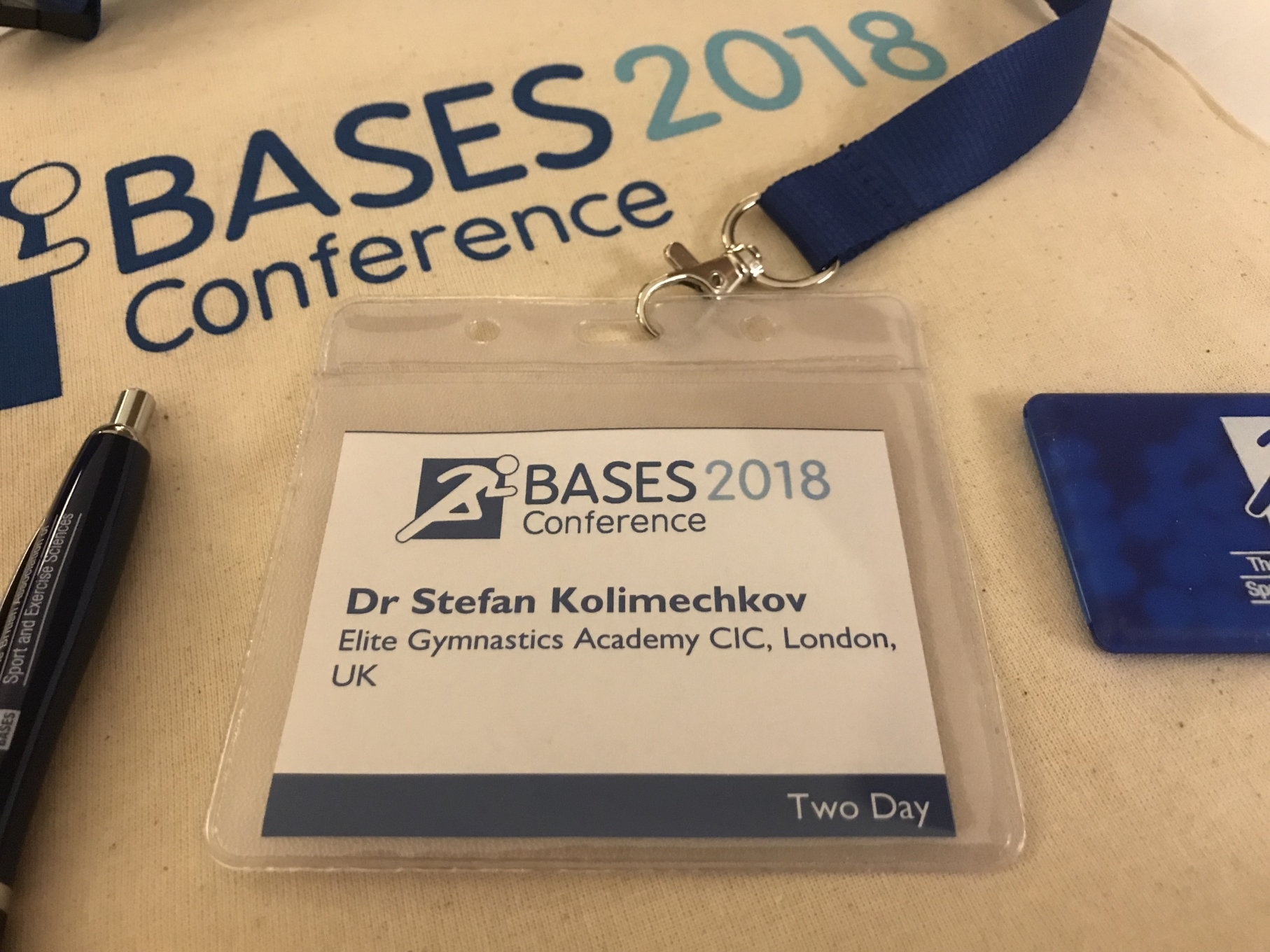 Dr Stefan Kolimechkov at the BASES Conference