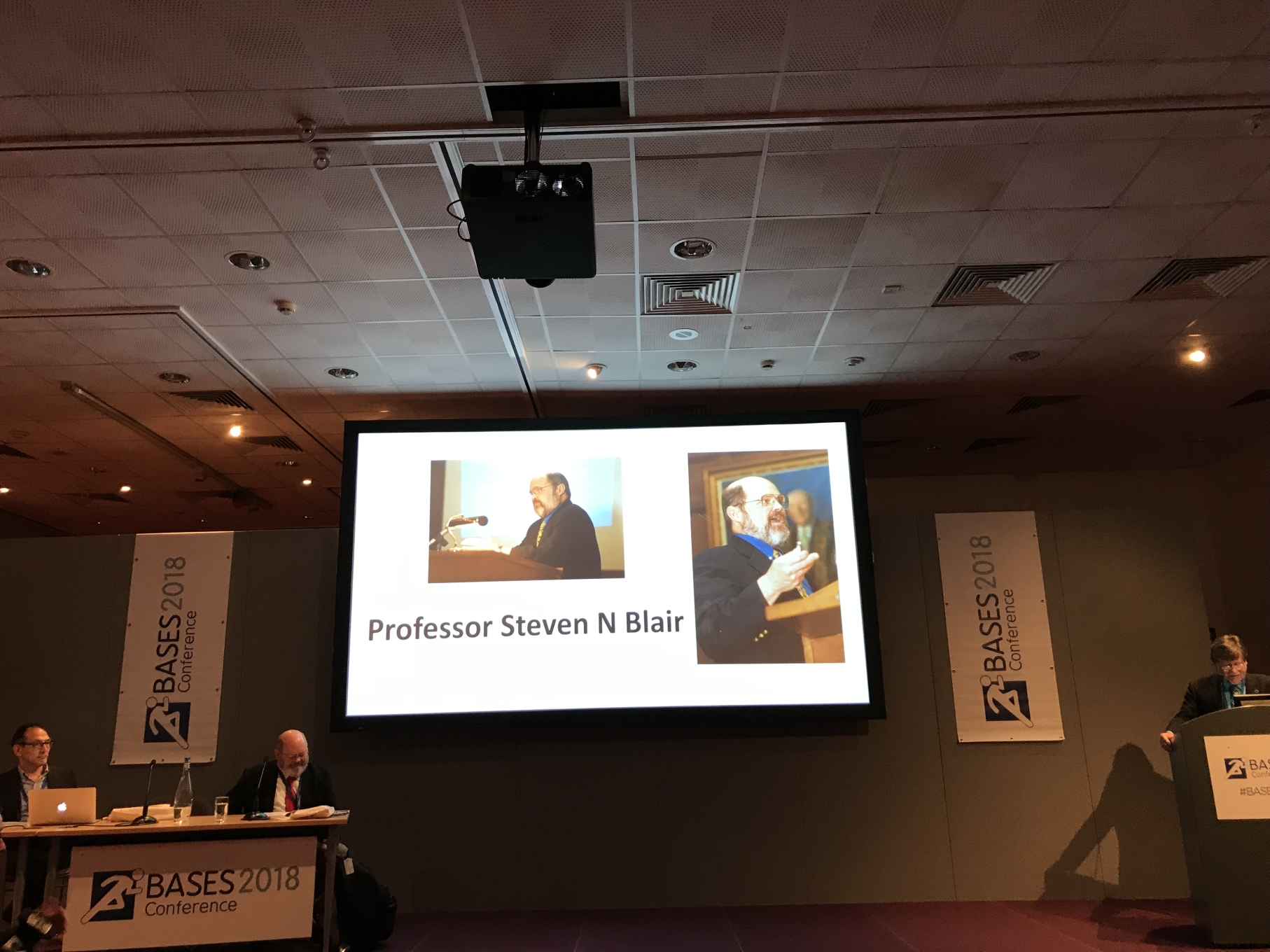 Professor Steven Blair at the BASES Conference 2018