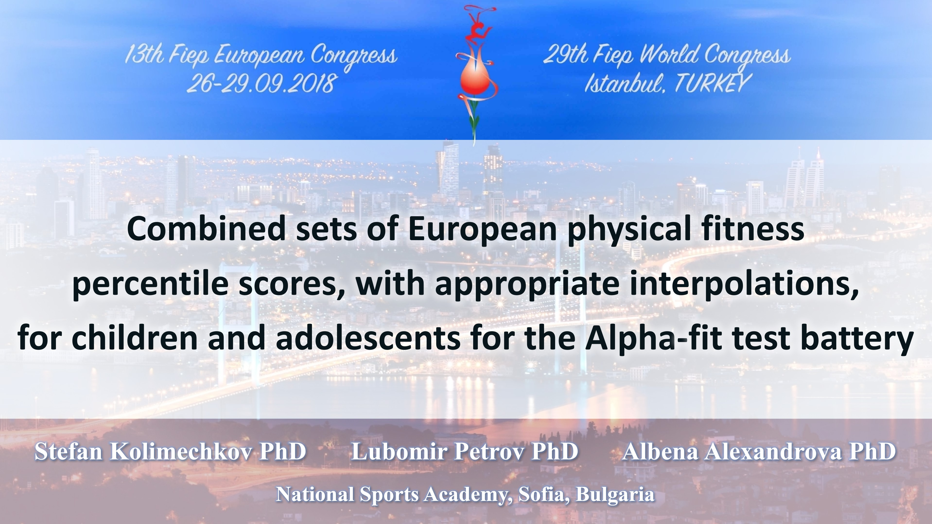 Combined sets of European physical fitness percentile scores for the Alpha-fit test battery