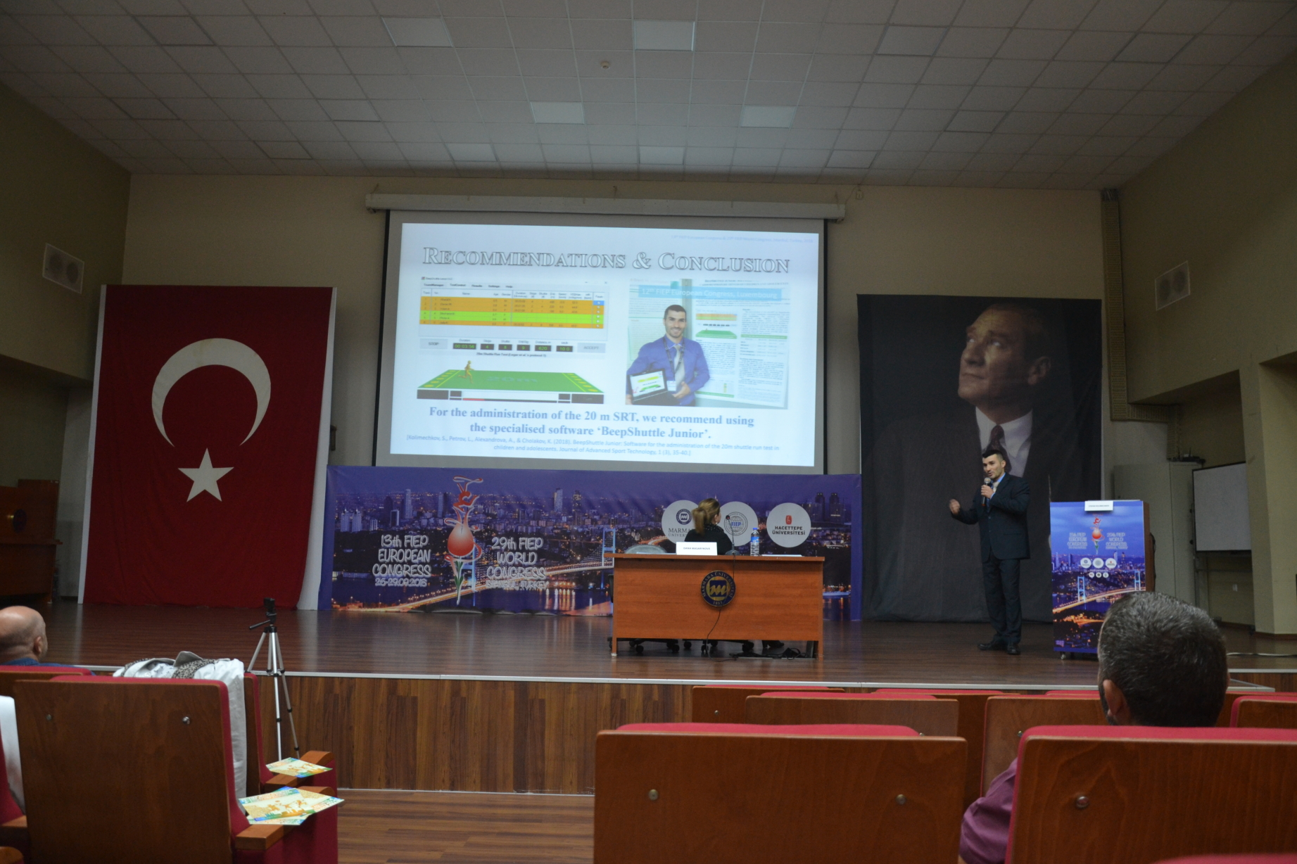 The beep test software BeepShuttle Junior was mentioned at the 13th European and 29th World FIEP Congress in Istanbul, 2018