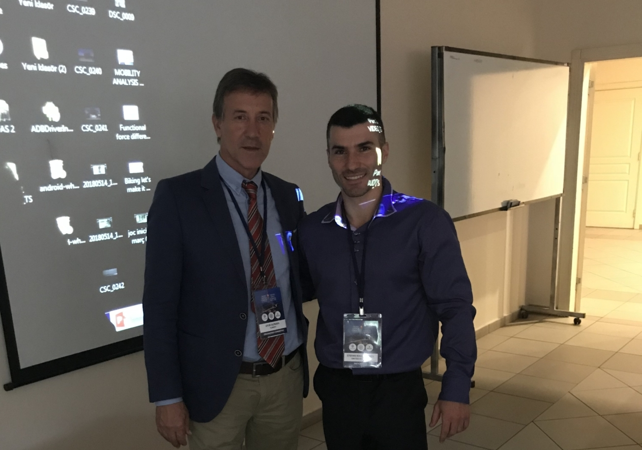 Associate Professor Ufuk Alpkaya and Dr Stefan Kolimechkov at the 2018 FIEP Congress in Istanbul