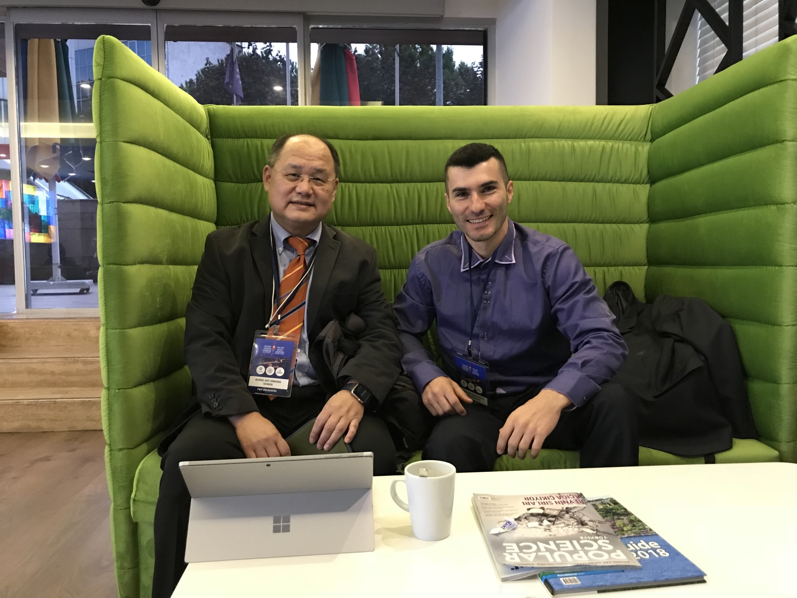 Prof Tony Hwang and Dr Stefan Kolimechkov at the 13th European and 29th World FIEP Congress in Istanbul, 2018