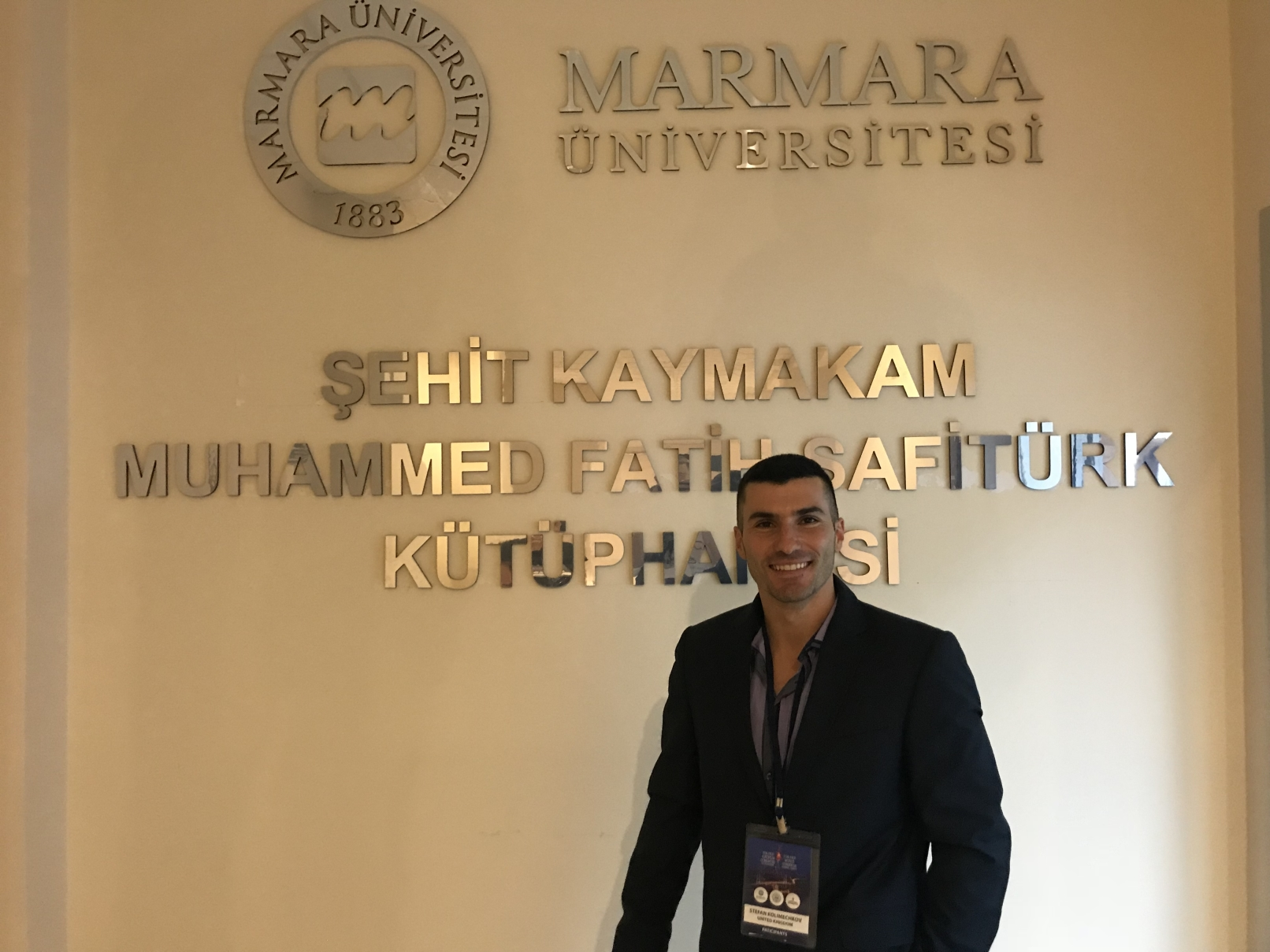 Dr Stefan Kolimechkov speaks at Marmara University