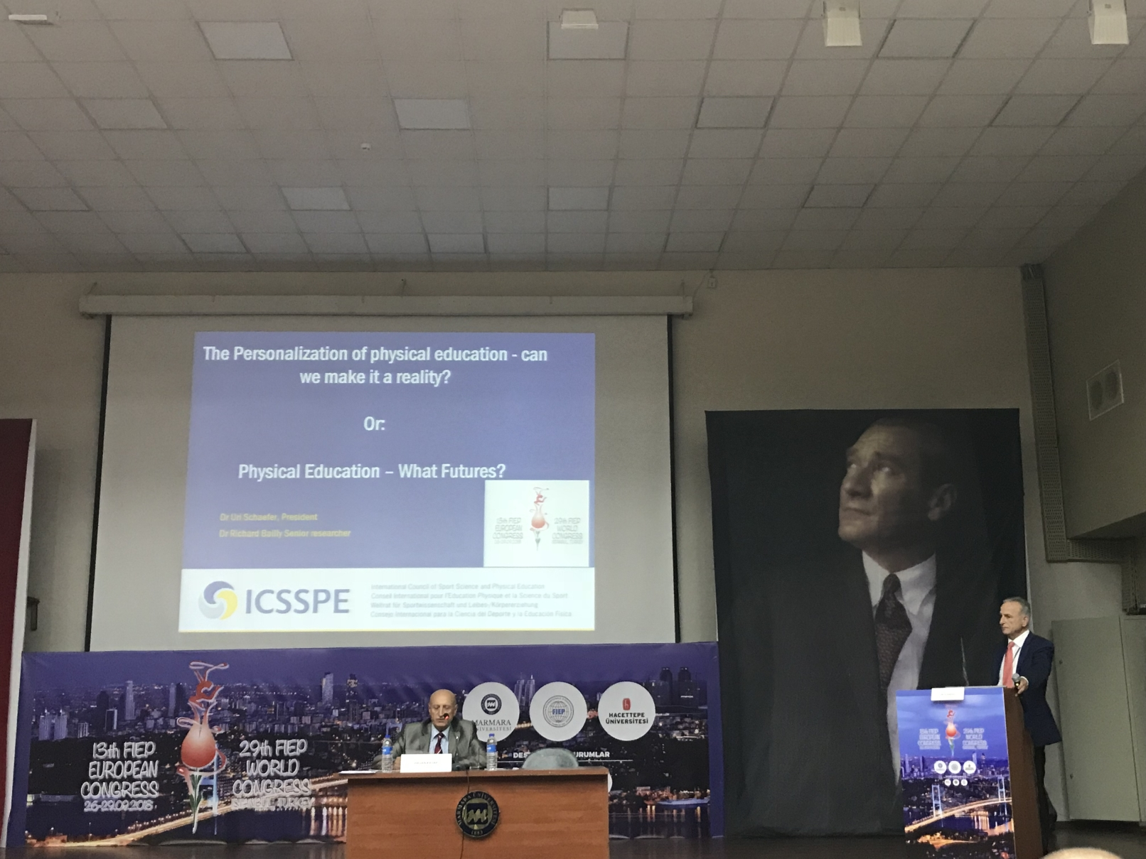 Dr Uri Schaefer at the 13th FIEP European Congress, 2018
