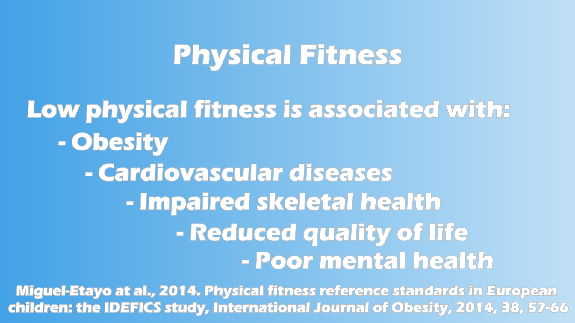 youth fitness and obesity levels physical education essay Obesity in childhood is known to have significant impact on both physical and mental health, including hyperlipidemia, hypertension and abnormal glucose tolerance x  physical activity can be an.