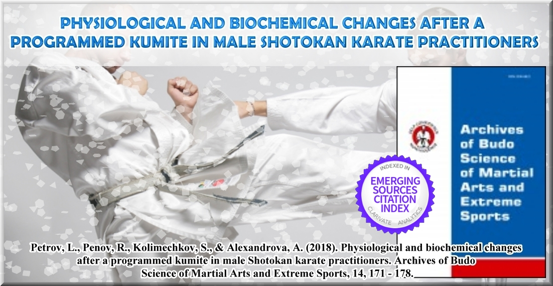 Physiological and Biochemical Changes After a Programmed Kumite in Male Shotokan Karate Practitioners