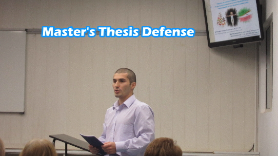 Defending masters thesis presentation
