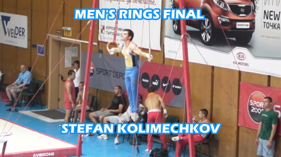 Men's Rings Final Stefan Kolimechkov 2012